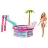 z Barbie Glam Pool and Doll ของแท้100% นำเข้าจากอเมริกา ตุ๊กตาบาร์บี้ เล่นสระว่ายน้ำ