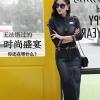 (Pre-order) เดรสยีนส์ ชุดเดรสยีนส์ดำ ผ้ายีนส์สีเข้ม