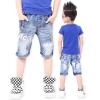 กางเกงยีนส์เด็กขาสามส่วน ผ้านุ่มยืดสุดแนว