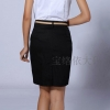 (Pre-Oder) กระโปรงทำงาน ทรงเอไลน์ ผ้าโพลีเอสเตอร์ สำหรับสาวพลัสไซส์ สะโพก 35.5 - 49.5 นิ้ว สีดำ