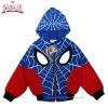"""ฮ """" S-M-L-XL """" เสื้อแจ็คเก็ต Spiderman เสื้อกันหนาว เด็กผู้ชาย สีน้ำเงิน รูดซิป มีหมวก(ฮู้ด) ใส่คลุมกันหนาว กันแดด สุดเท่ห์ ใส่สบาย ลิขสิทธิ์แท้ (ไซส์ S-M-L-XL )"""