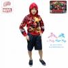 ( S-M-L-XL ) เสื้อแจ็คเก็ต เสื้อกันหนาว เด็กผู้ชาย สกรีนลาย The Avengers - Iron Man สีแดง รูดซิป มีหมวก(ฮู้ด) ใส่คลุมกันหนาว กันแดด สุดเท่ห์ ใส่สบาย ลิขสิทธิ์แท้ (ไซส์ S-M-L-XL )