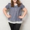 รายละเอียด : เสื้อผ้าแฟชั้นสาวอวบแขนสั้นผ้าชีฟองสีกรมท่าปักลวดลายสีขาวบุซับในสีขาว (2XL,3XL) เพิ่มเติม ** เสื้อผ้าไซส์ใหญ่ผ้าชีฟอง ดีเทลปักลวดลาย มีซับในในตัวสวมใส่ได้ทุกโอกาสเลยค่ะ **