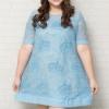 รายละเอียด : เดรสออกงานสาวอวบแขนสั้นผ้าออร์แกนซ่าสีฟ้าตัดต่อคลุมผ้าตาข่ายปักลวดลายฉลุแต่งลูกปัดบุซับใน (3XL,4XL,5XL) เพิ่มเติม **Mini dress ทรงปล่อยผ้าออแกนซ่าตัดต่อคลุมผ้าตาข่าย ดีเทลแขนสั้นเพิ่มความโดดเด่นสะดุดตาด้วยดีไซน์งานปักลายมงกุฎแต่งลูกปัด ด้านหล