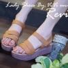 พร้อมส่ง รองเท้าส้นเตารีด วัสดุหนังนิ่มใส่แล้วเก็บหน้าเท้า สายรัดด้านข้างเป็นเมจิกเทป ใส่ง่ายถอดง่าย แบบเรียบๆเน้นใส่ได้ทุกโอกาส ตัวรองเท้ามีน้ำหนักเบามากๆ สวมใส่สบาย คอนเฟิร์มค่าา
