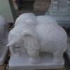 ช้างทรงเครื่อง แกะสลัก หินอ่อน ขนาดสูง 40 cm
