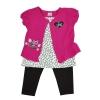 เสื้อผ้าเด็กหญิง 3 ชิ้น ชุดเสื้อและกางเกง ขนาด 12 / 18 / 24 เดือน