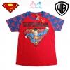 (ไซส์ 4)เสื้อยืดเด็กผู้ชาย แขนสั้น สีแดง สกรีนลาย Superman สุดเท่ห์ ใส่สบาย ลิขสิทธิ์แท้ (สำหรับเด็กอายุ 4-6 ปี)