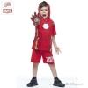 ฮ ( 3-4-5 ปี ) ชุดแฟนซี เด็กผู้ชาย Super Hero - The Avenger - Iron Man สีแดง เสื้อแขนสั้น สกรีนลายเกราะมีไฟกระพริบตรงหน้าอก มีหมวก ( ฮู้ด )สกรีนลายหน้ากาก กางเกงขาสั้น ชุดสุดเท่ห์ ใส่สบาย ลิขสิทธิ์แท้ (สำหรับเด็ก3-4-5 ปี)