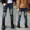กางเกงยีนส์เด็กสุดแนวกุ๊นลายขาด