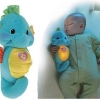 Z Fisher Price Ocean Wonders Soothe and Glow Seahorse in Blue ม้าน้ำกล่อมนอน สีฟ้า