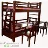 เตียง 2 ชั้น พร้อมโต๊ะเขียนหนังสือ + เก้าอี้ 2 ชุด