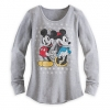 เสื้อแขนยาว ผู้ใหญ่ Mickey and Minnie Mouse Long Sleeve Thermal Tee for Women