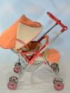 รถเข็นเด็กมือสอง Aprica ส้มครีม