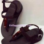รองเท้า Fitflob Chada เพชรเม็ดเรียว รัดส้น สีน้ำตาล No.FF256