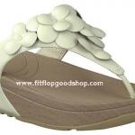 รองเท้า Fitflob Fleur Urban White ดอกไม้ 5 ดอก สีขาว No.FF040