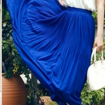 Pre-Order กระโปรงพลีท ผ้าชีฟอง ปี 2014 สไตล์โบฮีเมียน ราคาเบา ๆ น่าเป็นเจ้าของที่สุด สีน้ำเงิน