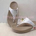 รองเท้า Fitflop New ลายจุด สีขาว  No.FF411