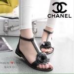 รองเท้า STYLE CHANEL ทำจากหนังนิ่ม ประดับดอกคามิเลีย