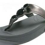 รองเท้า Fitflob Lucia Gray เพชร 5 เม็ด สีเทา No.FF068