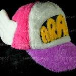 หมวก ARALE อาราเล่ รุ่นขนปุย สีชมพู ม่วง ขาว 3 โทน