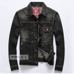 Pre-Order เสื้อแจ็คเก็ตยีนส์ดำ ปักหัวกระโหลกไขว้ สไตล์เรโทร แบบเท่ ๆ สำหรับหนุ่มมาดเซอร์
