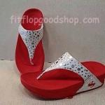 รองเท้า Fitflop New ลายจุด สีแดง  No.FF412