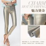 Pre-Order กางเกงยีนส์สีทอง กางเกงลำลอง เท่ ๆ แปลกตา