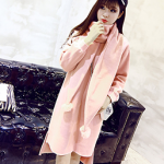 2016 ฤดูหนาวผู้หญิงเกาหลีใหม่ เสื้อกันหนาว + ผ้าพันคอ 2 ชิ้น สวยน่ารักมากค่ะ