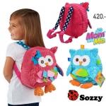 Sozzy กระเป๋าเป้ สะพายหลัง ลายนกฮูก สำหรับเด็ก