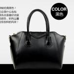 (Pre-order) กระเป๋าหนังแท้ กระเป๋าสะพายผู้หญิง หนังเรียบ แบบคลาสสิค สไตล์ยุโรป อเมริกา สีดำ
