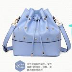 Pre-order กระเป๋าสะพายผู้หญิง Jinfenshijia กระเป๋าสไตล์ยุโรปอเมริกัน หนัง PU สีฟ้า