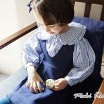 เสื้อเชิ้ตเด็กผู้หญิง คอบัวแขนพอง สไตล์เกาหลี Phelfish