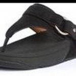 รองเท้า Fitflob Via (Nubuck) Black สีดำ No.FF128