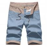 Pre-order กางเกงขาสั้น กางเกงลำลองฤดูร้อน กางเกงทะเล แบบทูโทน แฟชั่นสไตล์เกาหลี สีฟ้าอ่อน
