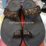 รองเท้า Fitflob New เพชรกระจาย สวมหูหนีบ สีน้ำตาล No.FF220