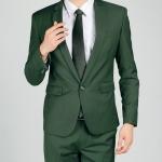(พรีออเดอร์) ชุดสูทสากล ชุดสูทผู้ขาย สูทแนวสปอร์ต กระดุมเม็ดเดียว สีเขียวเข้ม แฟชั่นสูทสไตล์เกาหลี