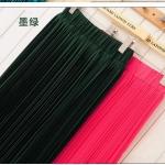 Pre-Order กระโปรงพลีท ผ้าชีฟอง สไตล์โบฮีเมียน ความยาว 50 - 96 cm.สีดำและสีบานเย็น
