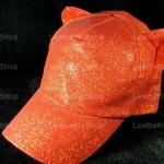 หมวกกากเพชร สีแดง Bear หูหมี