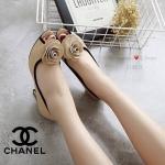 รองเท้าคัชชู STYLE CHANEL รุ่นแบบเหมือนใน SHOP ทำจากหนังนิ่ม ด้านหน้าประดับดอกคามิเลีย