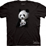 Pre.เสื้อยืดพิมพ์ลาย3D The Mountain T-shirt : Panda Cuddle MD