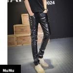 (Pre-order) กางเกงหนัง ขายาว หนังพียู คุณภาพดี รุ่น 5632
