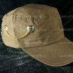 หมวก Cap สีน้ำตาล LEVI'S โซ่ห้อย หมุดกระดุม เท่ห์มากๆ