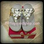 รองเท้า Fitflop Fleur ดอกไม้ 5 ดอก  สีทอง No.FF400