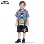 ( 3-4-5 ปี ) ชุดแฟนซี เด็กผู้ชาย Bat Man เสื้อแขนสั้นสีเทา สกรีนตัวBat Man มีหมวก(ฮู้ด) มีไฟกระพริบตรงหน้าอก กางเกงขาสั้นสีดำ ชุดสุดเท่ห์ ใส่สบาย ลิขสิทธิ์แท้ (สำหรับเด็ก3-4-5 ปี)