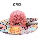 Pre-order หมวกปีกกว้างแฟชั่นฤดูร้อน กันแดด กันแสงยูวี สวยหวานเรียบหรู ดูดี สีชมพูอ่อน