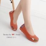 รองเท้าคัทชูเพื่อสุขภาพ ทำจากหนังนิ่ม มาพร้อมหนังลายน่ารักมาก