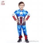 ' ( 4-6-8-10 ปี ) ชุดแฟนซี เด็กผู้ชาย Super Hero - The Avengers - Captain America เสมือนจริง มาพร้อมกับเสื้อ กางเกง หน้ากาก เพื่อให้คุณหนูๆได้สนุกกับชุดsuper hero คนโปรดตามจิตนาการ ชุดสุดเท่ห์ ใส่สบาย ลิขสิทธิ์แท้
