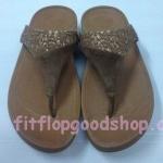 รองเท้า Fitflop New หูหนีบ ลูกไม้ สีน้ำตาล No.FF417