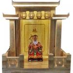ศาลเจ้าที่จีน 27 นิ้ว 3 หลังคา (หินหยกน้ำผึ้งทอง)